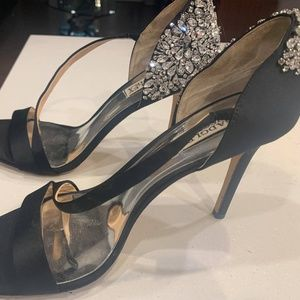 Badgley Mischka Rhinestone-Covered Heels